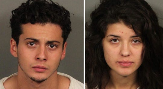 Christian Isiah Jimenez, 20, (left) of San Bernardino, and Merisa Robinson, 19, of Needles, are charged in the Aug. 19 shooting death of Alberto Rafael Sosa Alvarez, 21, of Cathedral City.