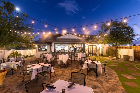 Dining al fresco at the Hidden House in Chandler.