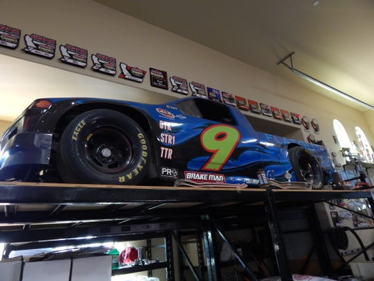 Co-founder Bryan McCormick's race truck is stored at the 12 West production facility.