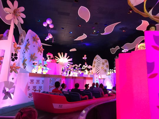 A slow  boat through It's a Small World at Disneyland.