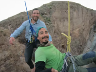Suspended over the border: Rio Grande stunt promotes solidarity on a 1-inch strip of rope