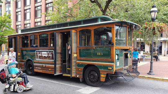York City Trolley made its debut on Sept. 1 at the centennial photo event in which residents recreated an image from 1919. The transportation is expected to begin making routes in York City this fall.