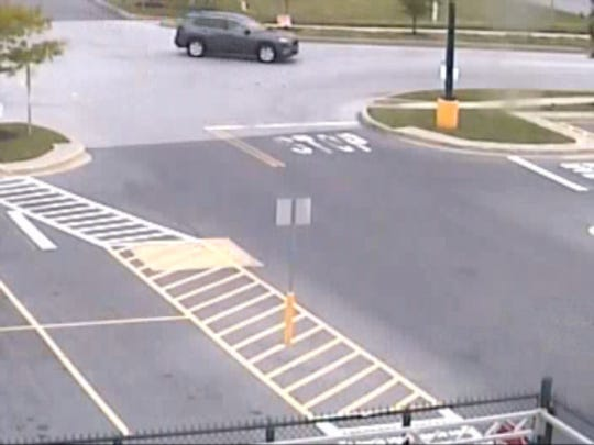 Newberry Township Police say this gray SUV, possibly a 2018-2019 Toyota RAV4, is connected with a Sunday robbery of the  TCC Verizon Wireless store at 108 Newberry Parkway in Newberry Township.
