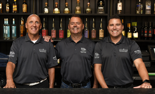 Left to right: Tom Sibol, David Albright, and Jeremiah Anderson. Albright was announced as a new co-owner and culinary director for Rockfish Public House and Valencia Ballroom in downtown York. Both properties are owned by White Rose Restaurant Group.