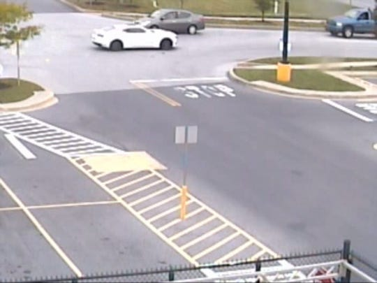 Newberry Township Police say this white Chevrolet Camaro (unknown year) is connected with a Sunday robbery of the  TCC Verizon Wireless store at 108 Newberry Parkway in Newberry Township.