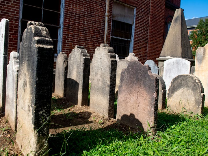 Employees with Prospect Hill Cemetery relocated 53 headstones in total.