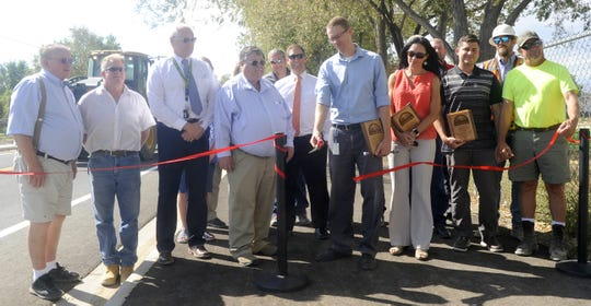 A groundbreaking ceremony was held Thursday for Hardie Lane.