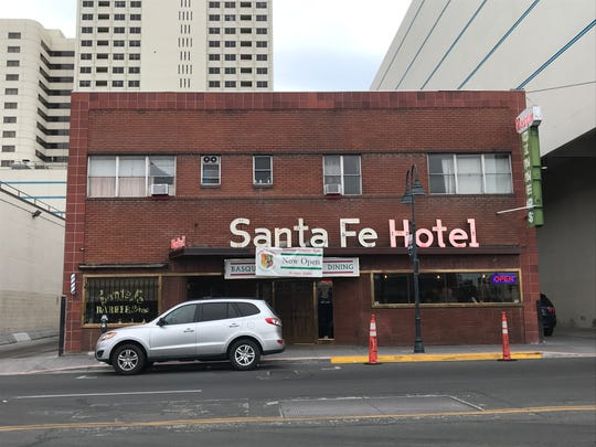 The Santa Fe Hotel, shown here in August 2019, re-opened in early July 2019 after being closed for two years. The Basque restaurant and lodging house has been in downtown Reno for 70 years.