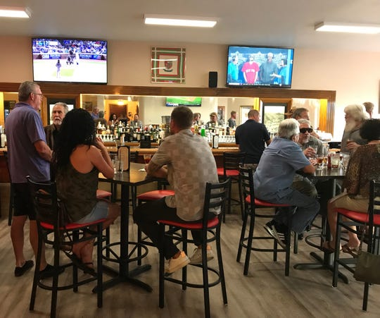 The bar crowd in summer 2019 at the Santa Fe Hotel Basque restaurant in downtown Reno.