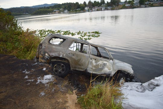 A 2019 Toyota 4Runner was recovered from Devil's Lake in Lincoln City.