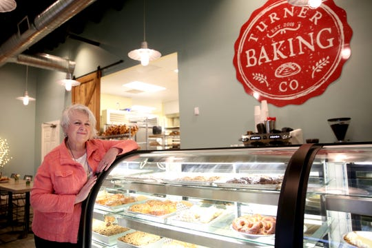 Owner Nancy Walsh at the newly-opened Turner Baking Co. in Turner on Sep. 5, 2019.