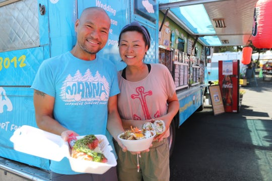 Emily Young and Francis Ho, pictured on August 10, 2018, drove their food truck to Oregon when they and their two daughters Noelle, now 12, and Hanna, 10,moved here from San Francisco in March 2018.