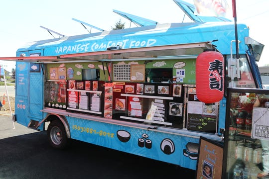 Manna Japanese Comfort Food, a big blue food truck owned by couple Emily Young and Francis Ho, has been located at Beehive Station since they moved to Salem from California in March 2018.