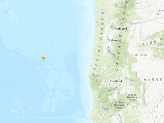 A 5.8-magnitude earthquake was detected Thursday morning off the Oregon Coast.