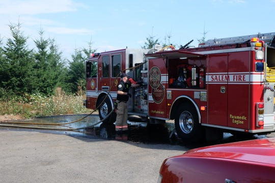 Fire crews are on scene of a grass fire in south Salem.
