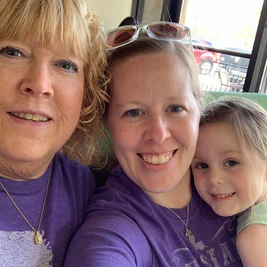 Emilane Watson with daughter Tara Bilow and granddaughter Avery Bilow