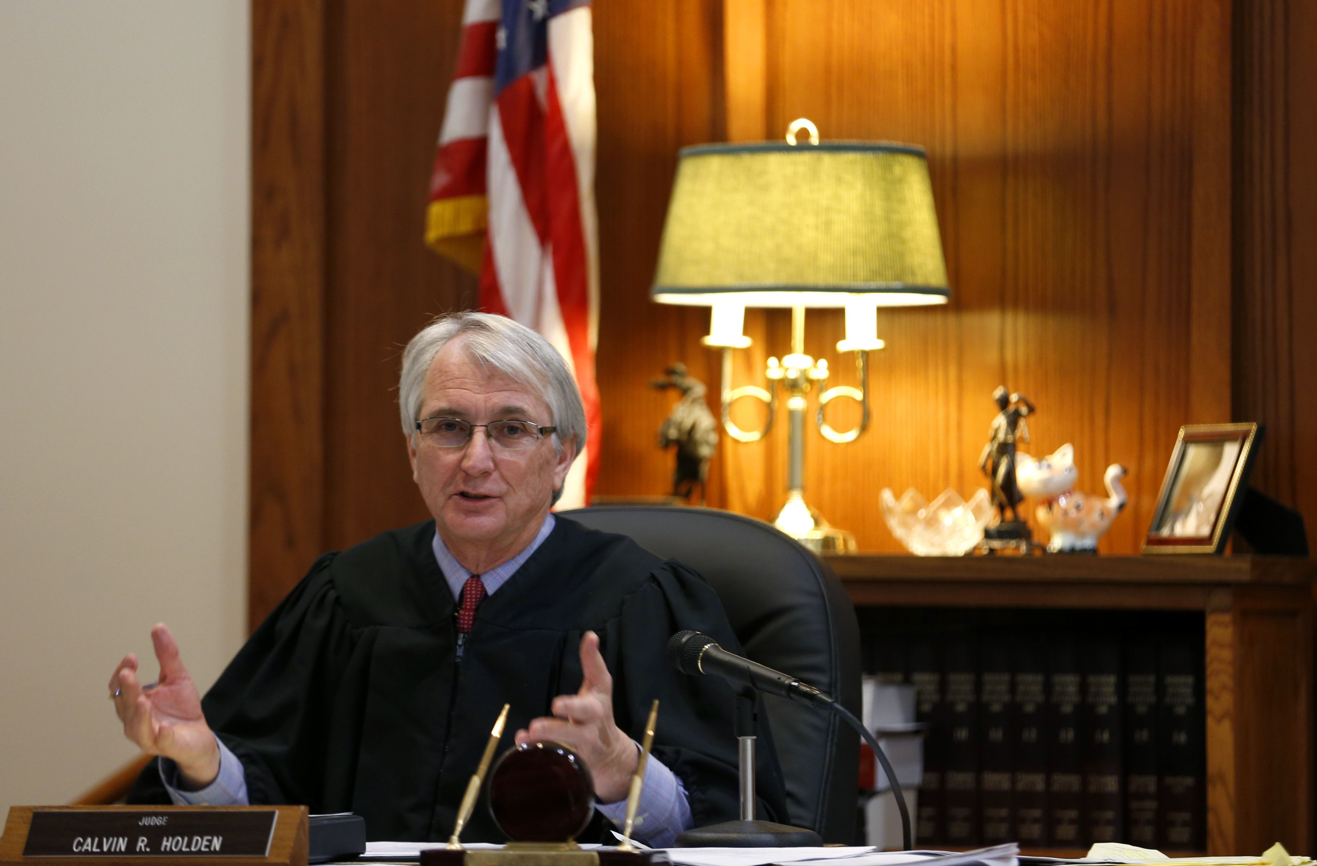 Judge Calvin Holden in a 2015 file photo
