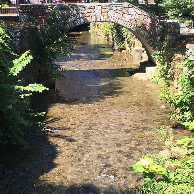 The bridge over Lewis Creek in Staunton, Virginia.