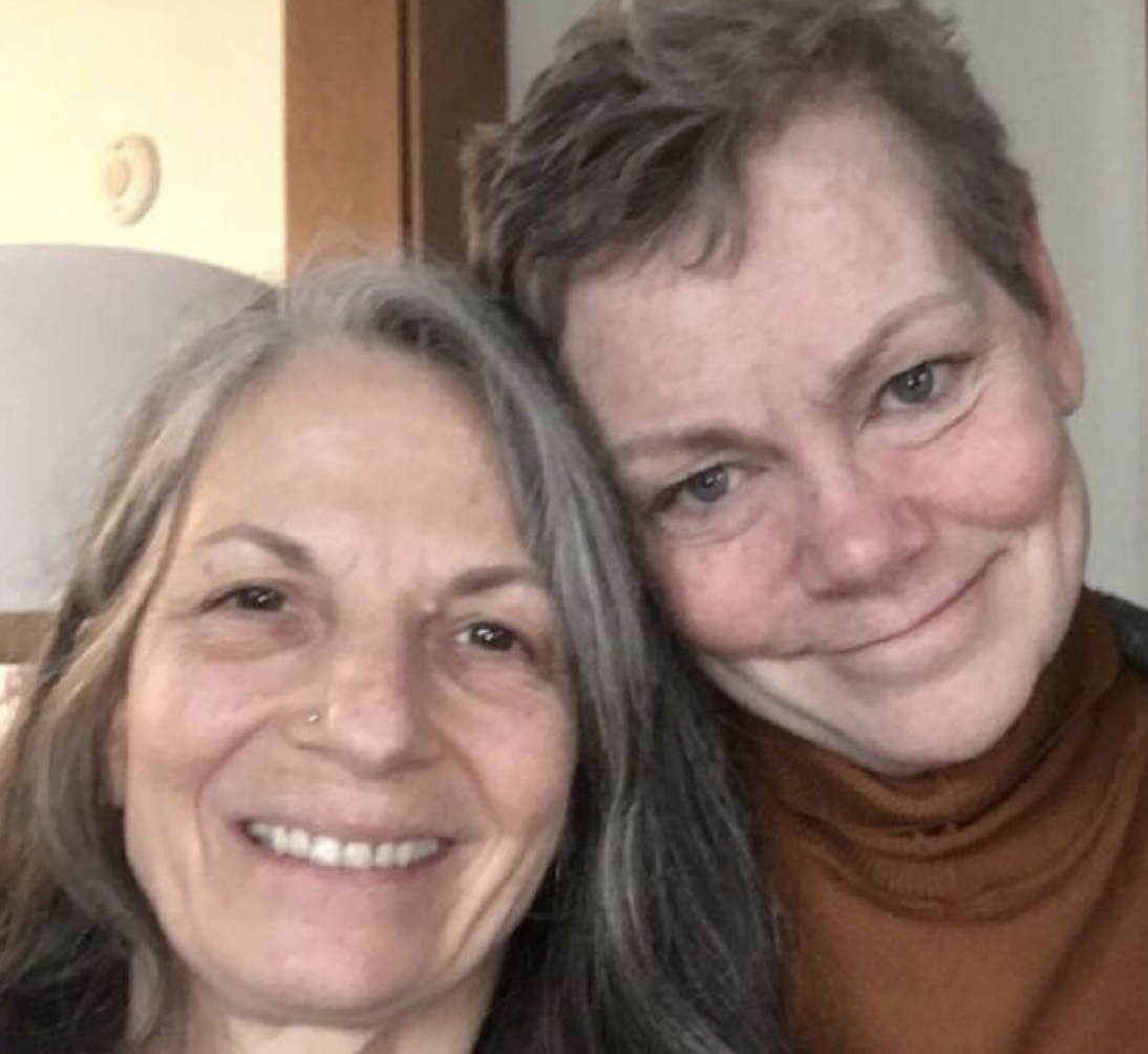 Death doula Willow Kelly and her client Colleen Cook. Cook died July 8, 2019 after living since 2015 with multiple terminal diagnoses.