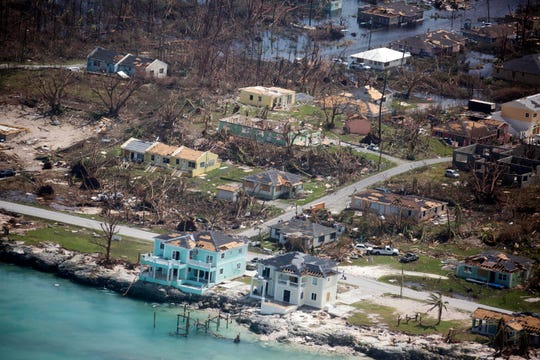 Extensive damage from Hurricane Dorian can be seen in aerial footage from Marsh Harbor, Abaco in the Bahamas.