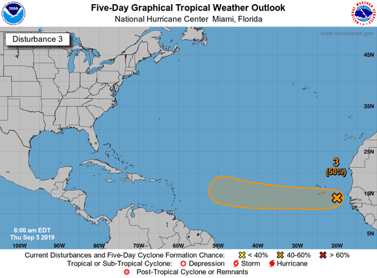 Tropical wave 11 a.m. Sept. 5, 2019