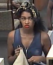 A woman who entered the PNC Bank at  U.S. 1 and Virginia Avenue attempted to rob a teller, but left without cash. Fort Pierce police released a surveillance photo of the September 5, 2019, crime