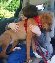 Jonny Hickey and his dog Xena