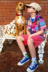 Johnny Hickey and his dog Xena