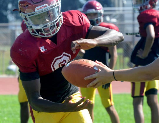 Oxnard senior Xavier Harris is second in Ventura County in rushing yards with 895 and scoring with 98 points.