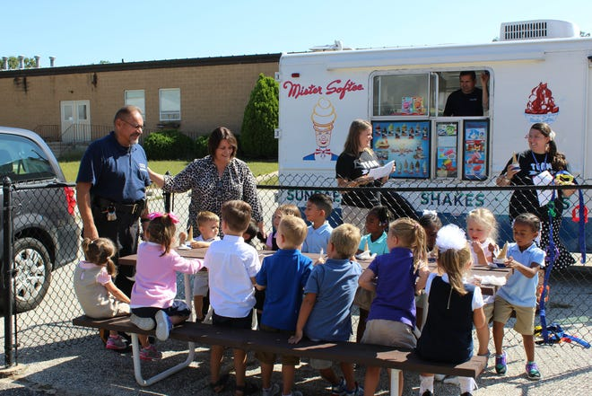 A visit to the Mister Softee Ice Cream Truck for a treat was a highlight of the first day of school for students at Cumberland Christian School in Vineland.