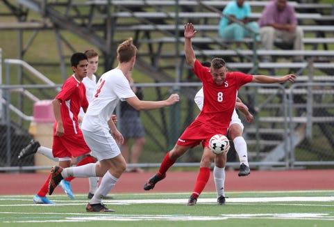 Somers defeats Tappan Zee 4-1 in boys soccer at Tappan Zee High School in Orangeburg on Thursday, September 5, 2019.