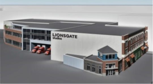A rendering for Lionsgate studio complex in Yonkers.