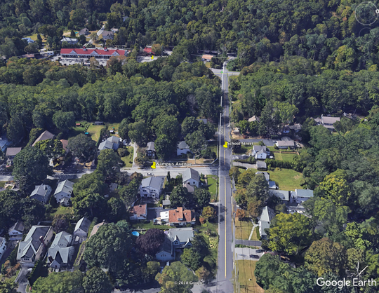 Wampus Avenue and School Street in Armonk