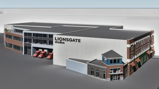A rendering of a Lionsgate studio complex that is set to be built in Yonkers.