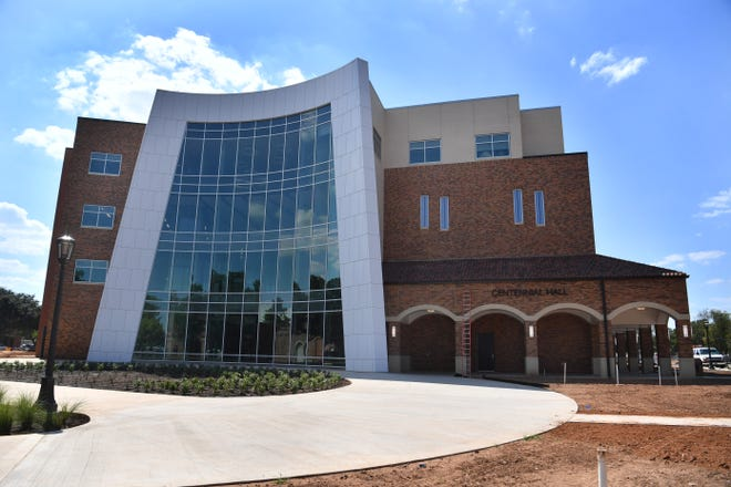 One of the newest buildings on the Midwestern State University campus, Centennial Hall, housing the nursing, radiolocal and other health sciences education programs.