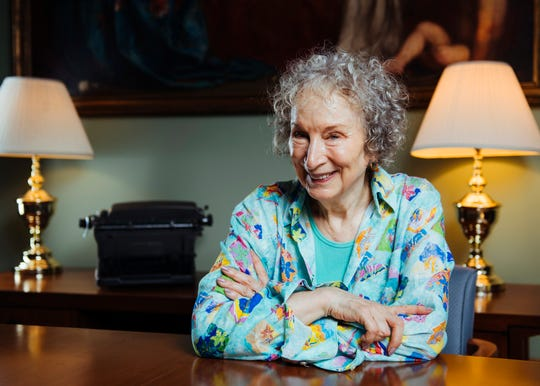 This Aug. 21, 2019 photo shows author Margaret Atwood posing for a portrait in Toronto, Canada.