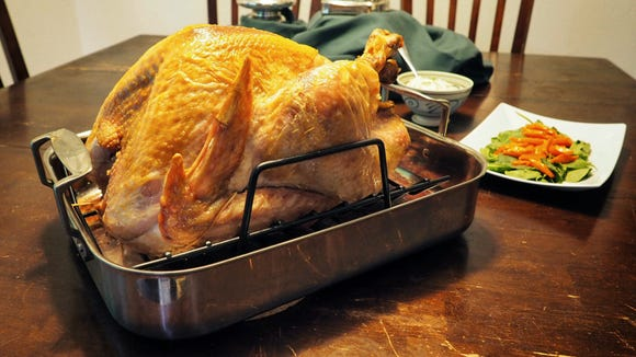 A dry bird will be a thing of the past thanks to this pan.