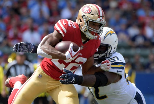 Despite missing two games due to injury, Matt Breida led the 49ers in rushing last season with 814 yards and three touchdowns.