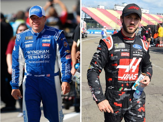 Ryan Newman, left, and Daniel Suarez are tied for the 16th and final playoff position entering Sunday's regular-season finale at Indianapolis Motor Speedway.