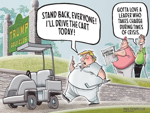 Trump The Take-charge Leader?: Today's Toon