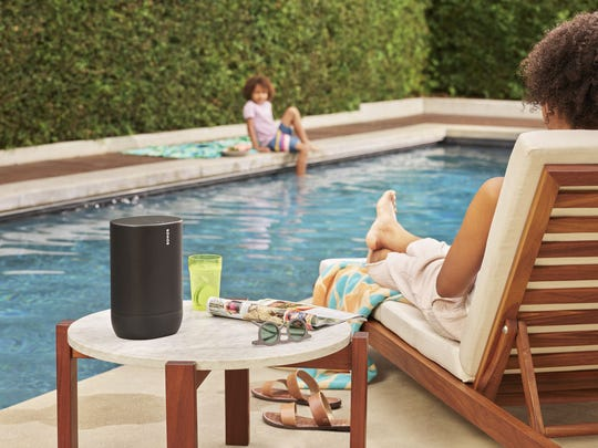 The Sonos Move speaker ($399) can be used as a WiFi speaker at home, but also as a Bluetooth speaker outside and on the go.