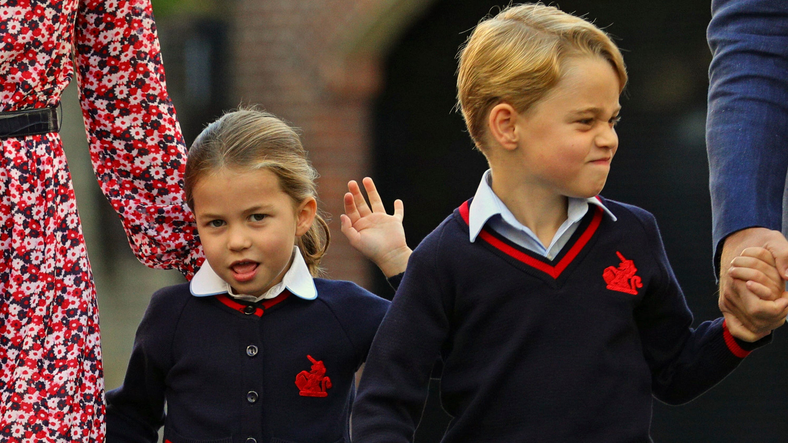 Princess Charlotte attends first day of school with mom, dad and big brother Prince George