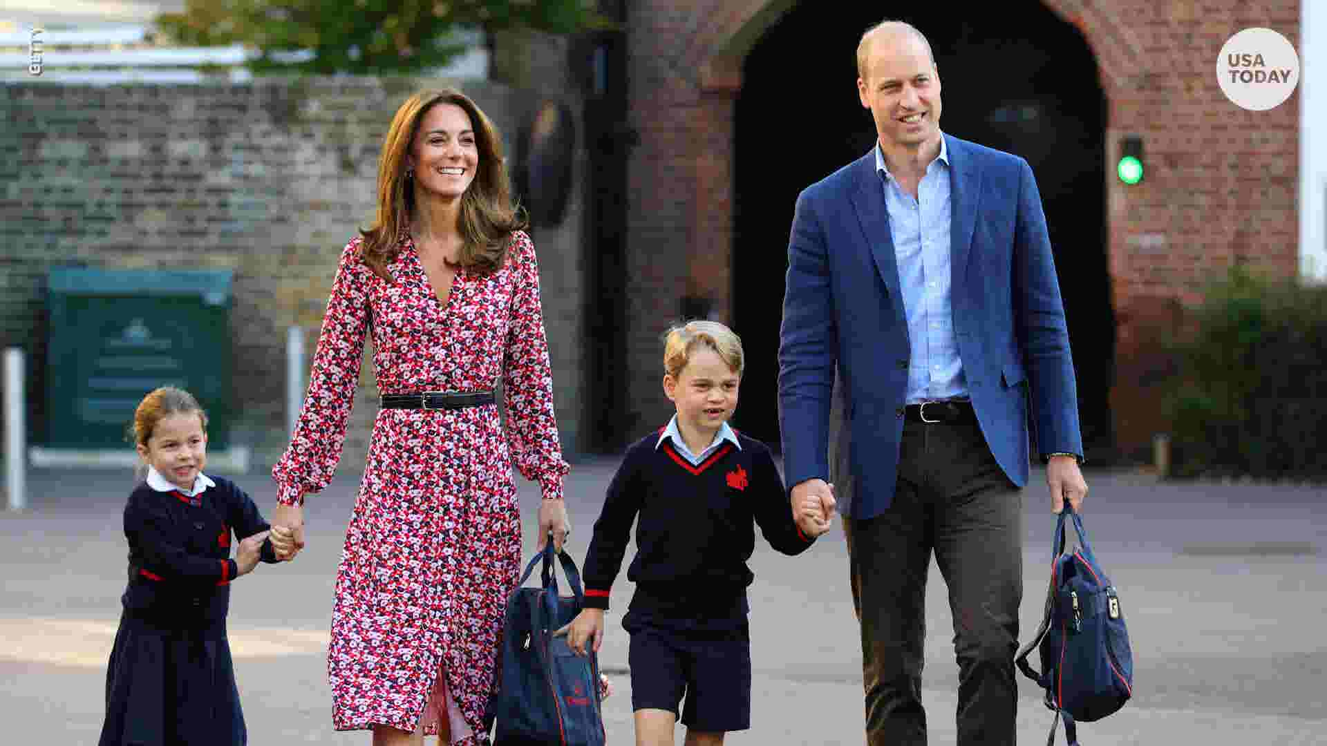 Princess Charlotte looks adorable for her first day of school