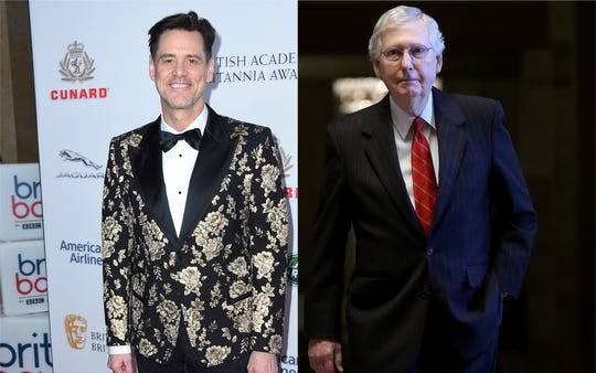 "Jim Carrey says Osama bin Laden ""doesn't hold a candle to Mitch McConnell"" in his latest political cartoon."