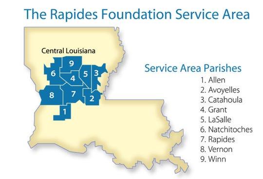 The Rapides Foundation service area