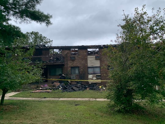 A fire ripped through a two-story apartment complex on Prospect Street in Lakewood early Friday morning.