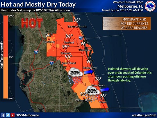 National Weather Service measured record heat in Brevard Friday.