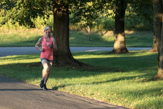 "Local doctor Kristine McCallum took first place in the women's category with a time of 22:03 at the annual ""connecting for life"" 5k on Thursday, September 5, 2019. The event is held annually to help raise funds for suicide awareness."