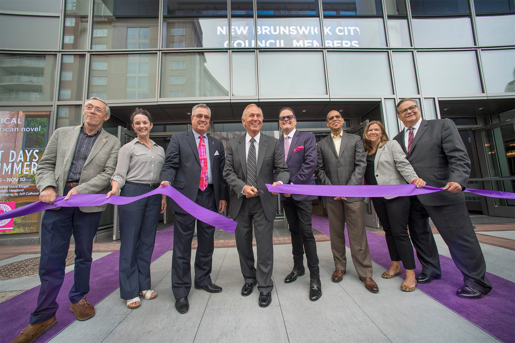 Scenes from the opening of New Brunswick Performing Arts Center