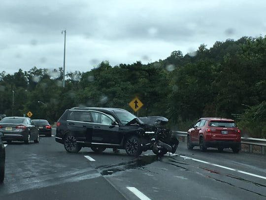 An accident on I-287 in Bridgewater resulted in all northbound lanes being closed.